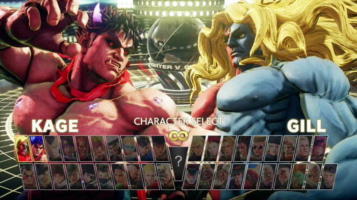 SFVCE character select